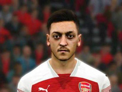 Imagen de Özil en el videojuego. En vídeo, el mediapunta eliminado del PES en China.