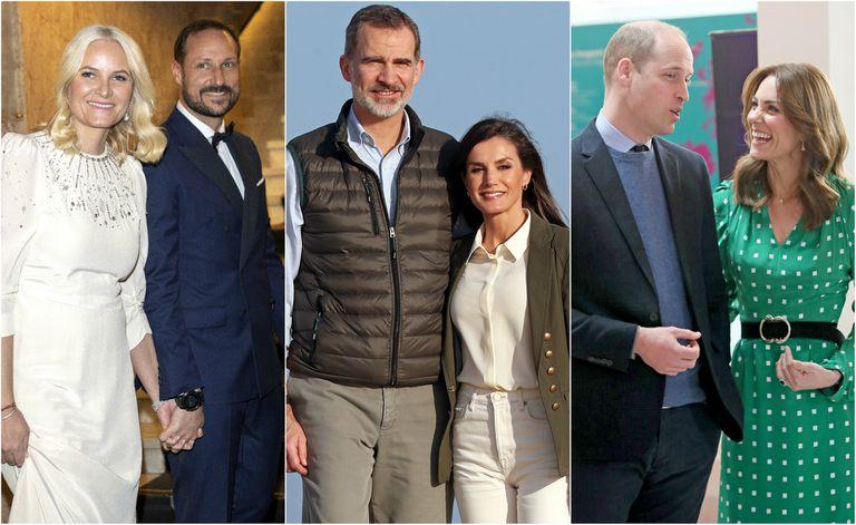Mette-Marit y Haakon de Noruega, los reyes Felipe y Letizia y los duqes de Cambridge.