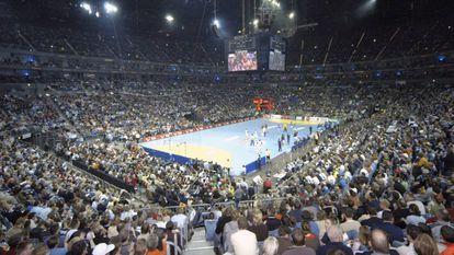 El Lanxess Arena Colonia en una imagen de la Final Four de balonmano en 2019.