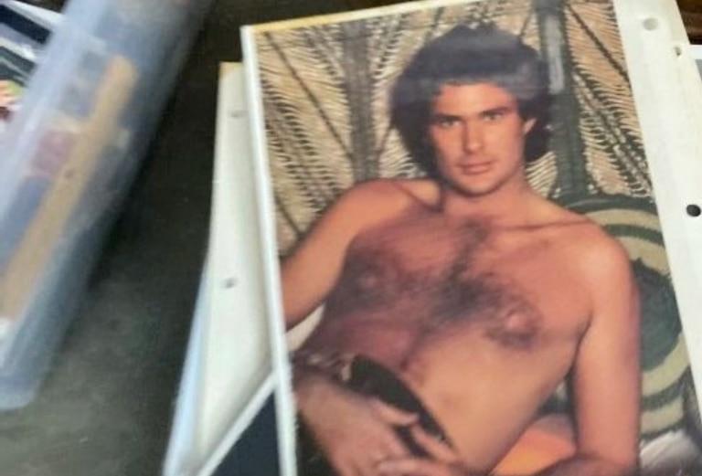 """Entre los objetos a subasta se encuentra una """"foto sexy"""" (es literal) de David Hasselhoff en su juventud."""