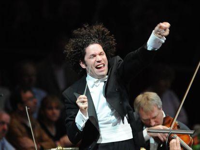 Gustavo Dudamel en el concierto que dirigió en enero pasado en el Palau.