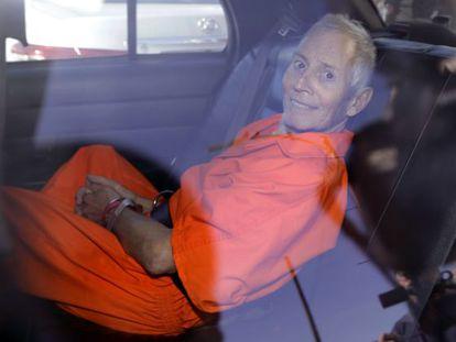 Robert Durst, durante el traslado a la prisión de Orleans Parish el 1 de octubre de 2019.