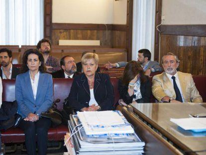 Desde la izquierda, Betoret, Such, Martínez, Magariños, Correa y Crespo en el juicio de Fitur.