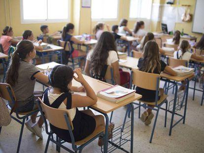 Alumnos de un colegio público de infantil y primaria de Sevilla.