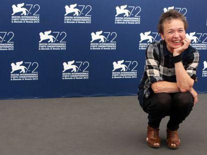 Laurie Anderson, en la presentación de 'Heart of a dog', en Venecia.