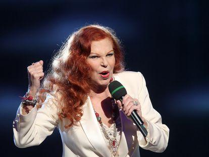 Milva, durante un concierto en Austria en marzo de 2012.