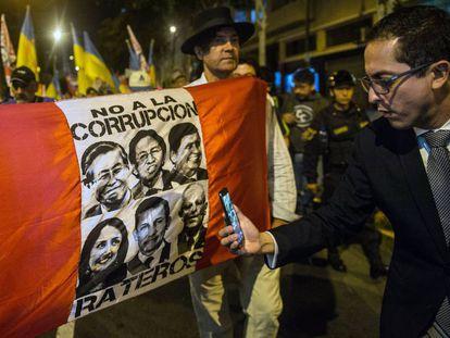 Una protesta en Perú en contra del Fujimorismo.