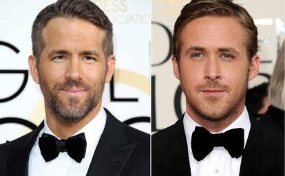 Ryan Reynolds y Ryan Gosling, en la gala de los Globos de Oro.