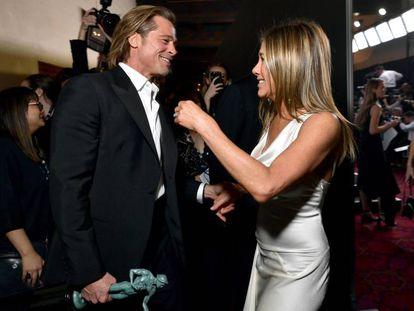 Brad Pitt y Jennifer Aniston, en los premios SAG.