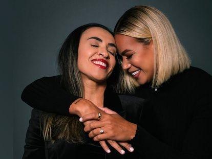 Marta Vieira con Toni Pressley, en una fotografía publicada en su perfil de Instagram.