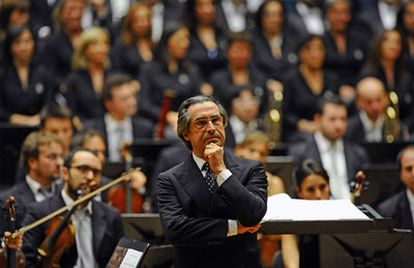 Riccardo Muti, antes de comenzar el concierto.