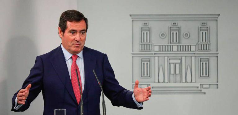 El presidente de la Confederación Española de Organizaciones Empresariales (CEOE), Antonio Garamendi, a mediados de noviembre en La Moncloa.