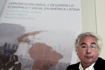 Manuel Castells, en el acto de presentación.