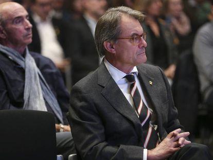 El expresident Artur Mas en la presentación del Consell por la República, el 30 de octubre.