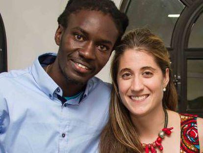 Nerea y Mamadou querían construir un espacio de desarrollo para una comunidad de Senegal. Uno falta, pero el sueño ya es realidad