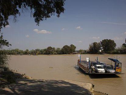 Imagen del río Guadalquivir a su paso por Coria del Río (Sevilla).