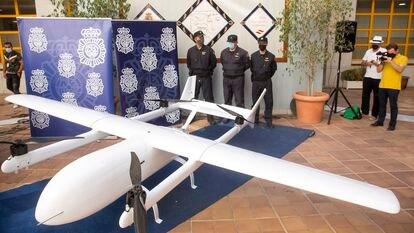 Dron incautado por la Policía Nacional en Málaga.