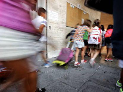 Alumnos de un colegio público de Madrid.