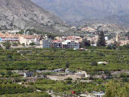 El pueblo de Orxeta en una imagen tomada ayer.