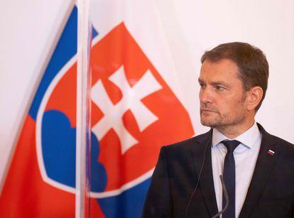 El primer ministro de Eslovaquia, Igor Matovic, en una rueda de prensa el pasado septiembre, en Viena.