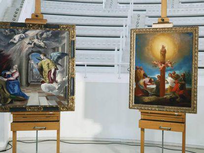 Las obras de El Greco y Goya el pasado mes de junio, cuando se presentaron en el MNAC.