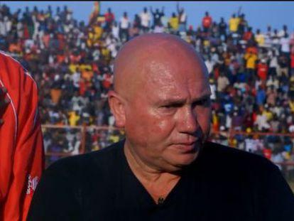 Zoran Djorjevic, justo antes del primer partido de Sudán del Sur.
