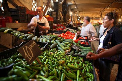 Mercado de de Ali Mellah, en Argel