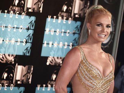Britney Spears durante su llegada a la alfombra roja de los MTV Video Music Awards, en 2015.