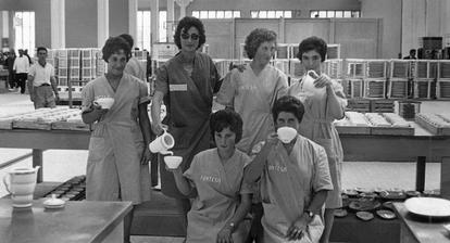 Las trabajadoras de Pontesa, en una imagen de la película 'Nación'.