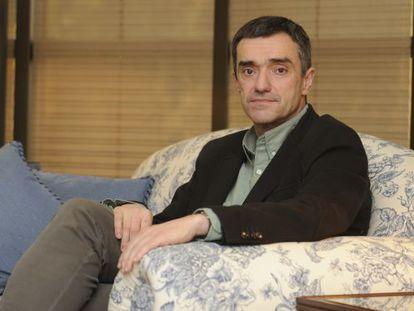 Jonan Fernández, antes de la entrevista en la sede de Lehendakaritza en Vitoria.