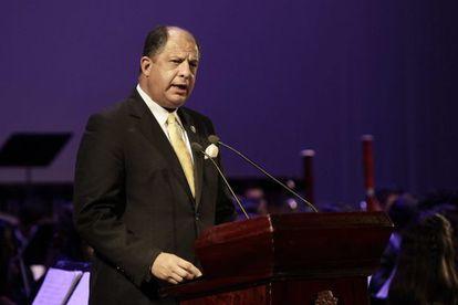 El presidente de Costa Rica, Luis Guillermo Solís, el pasado 1 de septiembre.