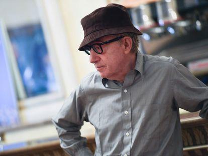 Woody Allen, en julio de 2019 en Milán, en la rueda de prensa de la ópera 'Gianni Schicchi', de Giacomo Puccini, dirigida por el neoyorquino.