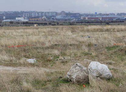 Aspecto de la parcela que Alcorcón ofrece a RTVE para instalar su sede.