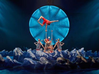 Un momento de uno de los últimos espectáculos del Circo del Sol