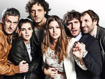 Los actores de la película '¿Quién mató a Bambi?'.