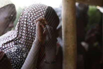Refugiados de la violencia de Boko Haram en Chad.