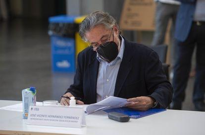 El portavoz del PSOE en el Ayuntamiento de Madrid, Pepu Hernández, el pasado 11 de junio.