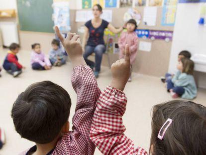 Una escuela infantil catalana.