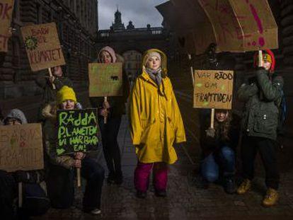 Soy una niña que dice que otras personas están robando mi futuro , dice sobre ella misma Greta Thunberg