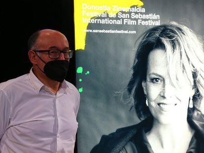 José Luis Rebordinos, durante la presentación del cartel del 69º Festival de Cine de San Sebastián.