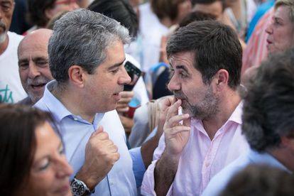 Homs con el presidente de la ANC, Jordi Sanchez.