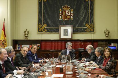 Pleno del Consejo General del Poder Judicial, en Madrid el pasado enero.