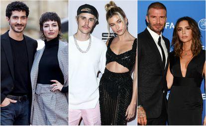 Chino Darín, Úrsula Corberó, Justin Bieber, Hailey Baldwin, David Beckham y Victoria Beckham.