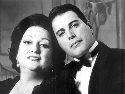 Montserrat Caballé y Freddie Mercury, en 1989.
