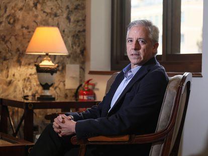 Álvaro García Linera, exvicepresidente de Bolivia, durante una entrevista concedida en Madrid a principios de marzo de 2020.