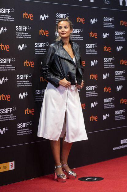 Julia Ducournau, directora de 'Titane', en San Sebastián'.