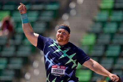 Ryan Crouser, durante los trials de Hayward Field.