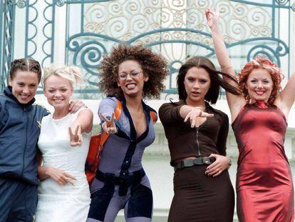 Las Spice Girls en el Hotel Martínez de Cannes en 1997.