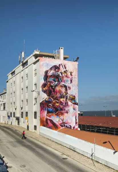Una de las obras de la exposición de Arte Urbano.