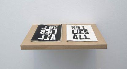 La frase del artista Tony Shafrazi que inspira la muestra de Arce.